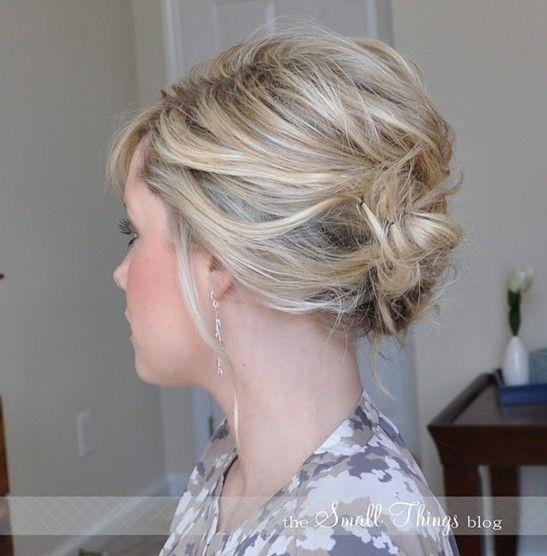 10 Peinados para el pelo corto updo - updos fácil para las mujeres