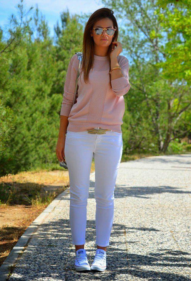 Jeans blancos Idea Equipo para la primavera