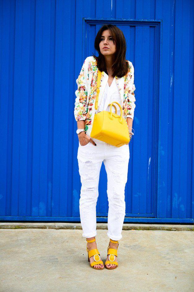 Estilo Jeans blancos traje Idea