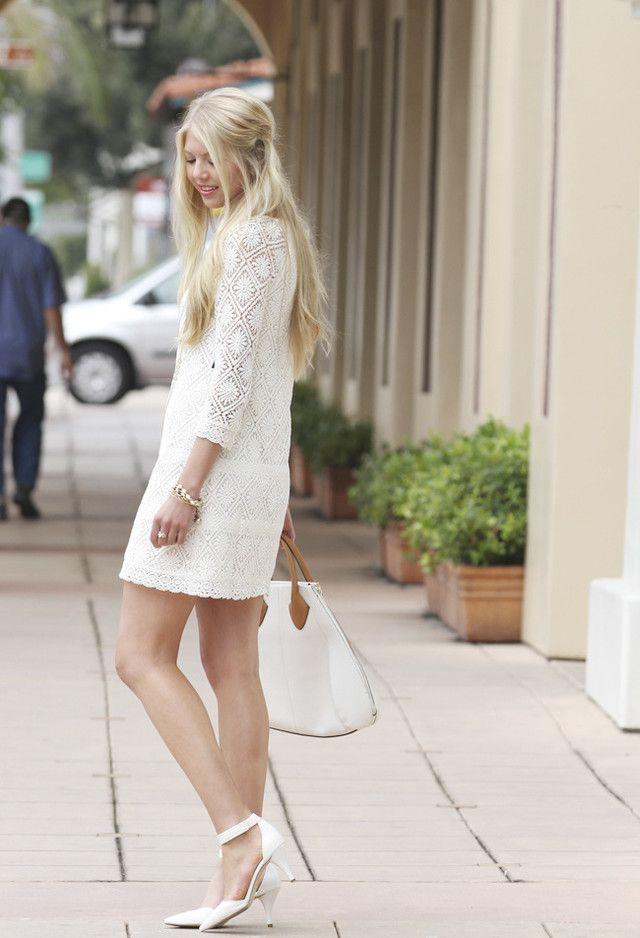 16 Ideas traje hermoso vestido blanco para la primavera / verano 2014