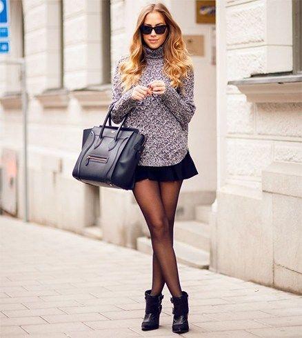 falda patinador negro