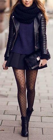 Elegante falda patinador negro