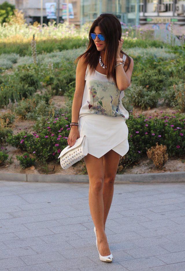 Todas las ideas de combinación blancos para la primavera elegante Apariencia: De moda Skort