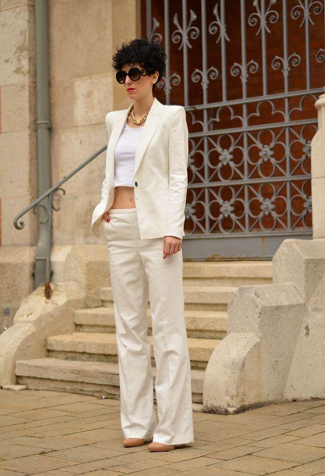 Todas las ideas de combinación blancos para la primavera elegante Apariencia: Camisa corta