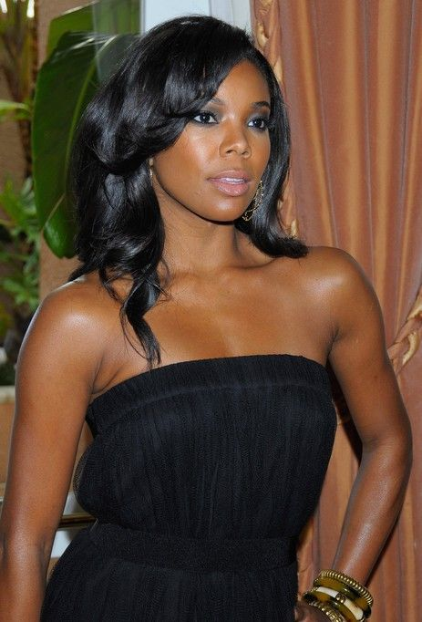Gabrielle Union larga Negro Peinado rizado de fin de curso