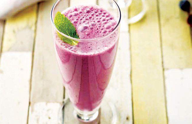 Blueberry receta de batido - Mujeres`s Health & Fitness