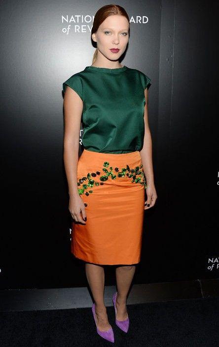 Cómo usar traje de joya-tono como seydoux lea para la primavera de 2014