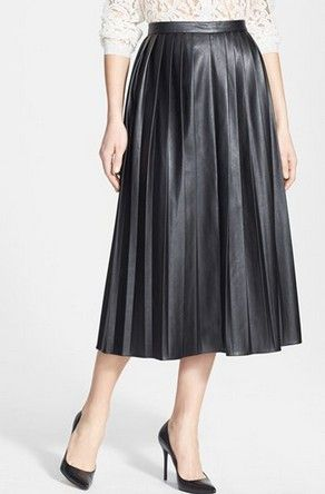 Falda de cuero Negro NORDSTROM