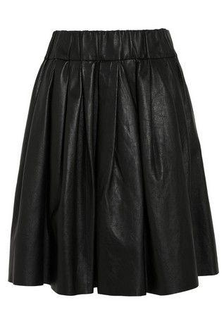 Falda de cuero del iris y de la tinta Negro