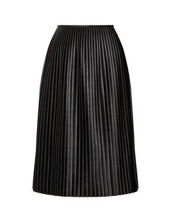 Falda de cuero Negro MSGM