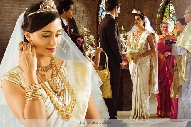 Kerala sari de boda cristiana va a enamorar de