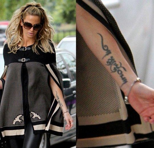 Tatuajes de sarah harding - letras de tatuaje en el antebrazo