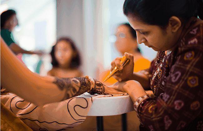 Importancia del mehndi en bodas indias