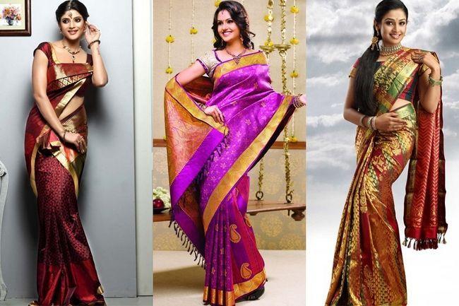 Saris de boda sur de la india: al margen de la moda cambiante