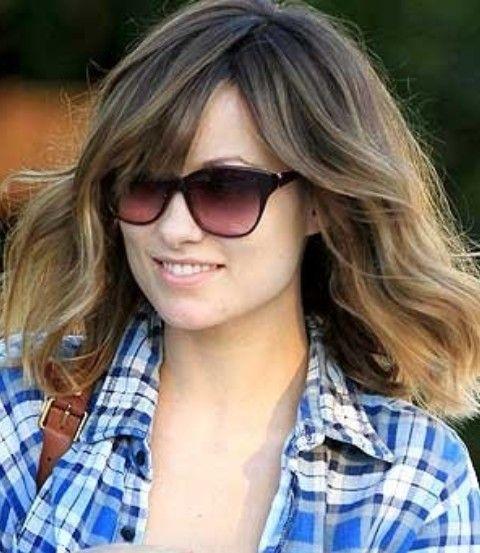 Olivia Wilde peinados: Bastante Medio ondulada del corte de pelo
