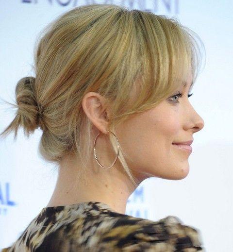 Olivia Wilde peinados: clásico encantador Bun