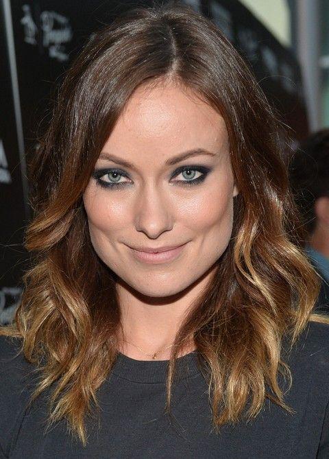 Olivia Wilde peinados: Modern Medium ondulada del corte de pelo