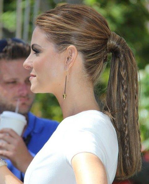 Maria Menounos peinados: Cola de caballo con trenza