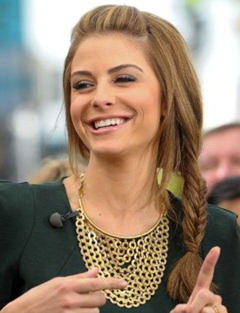 Maria Menounos estilos de cabello: cola de pescado lindo