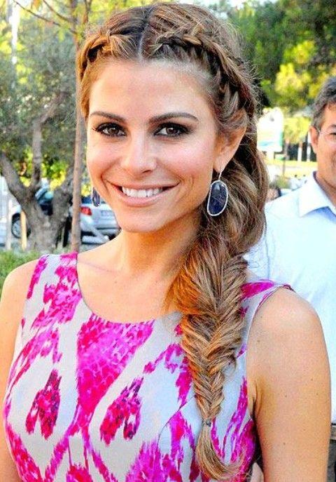 Maria Menounos peinados: Hermoso Trenza