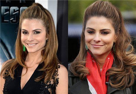 Maria Menounos peinados: De moda La mitad hacia abajo de media hasta