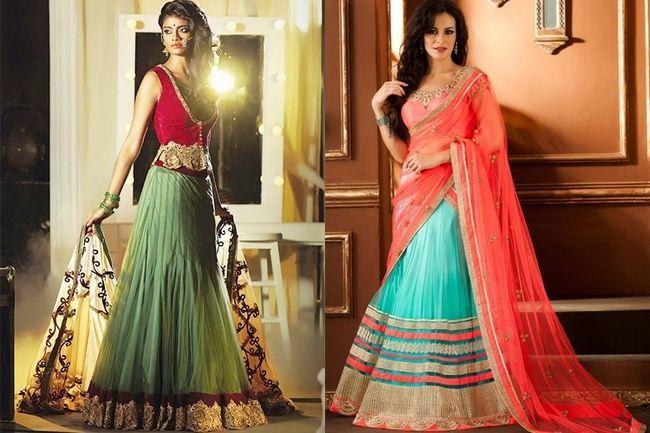 Sari de moda estilo lehenga para su gran día