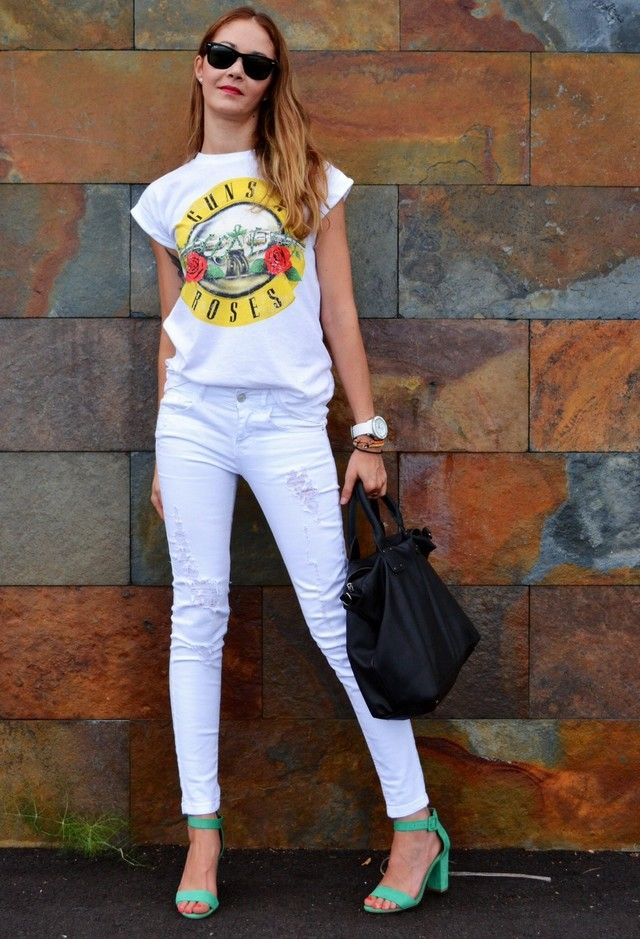 Formas de moda que usa sus pantalones vaqueros blancos para diferentes ocasiones