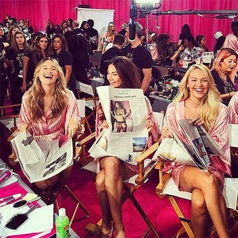 Victorias Secret antes del espectáculo