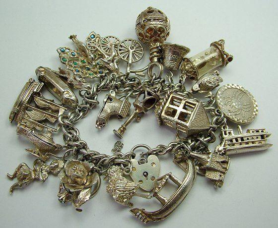 pulseras de plata del encanto